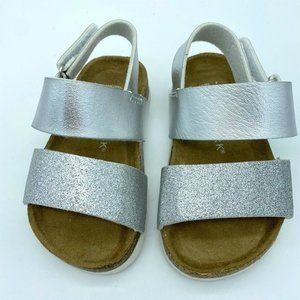 Primark Kids Metallic Glitter Sandals 8